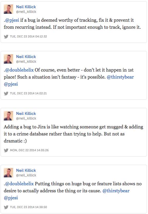 Various tweets